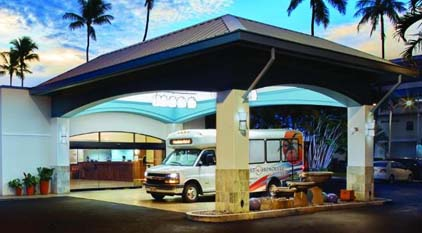 Airport Shuttle service at Airport Honolulu Hotel